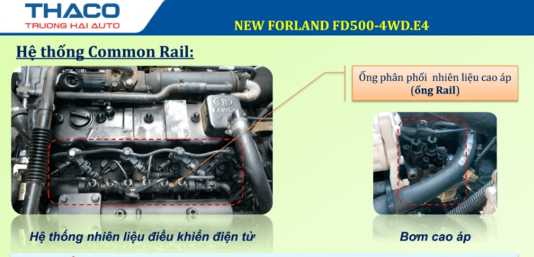 động cơ xe ben thaco 5 tấn