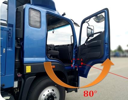 GÓC MỞ CỬA xe tải 9 tấn c160